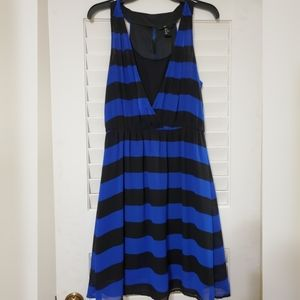 H&M Black and Blue Stripped Dress